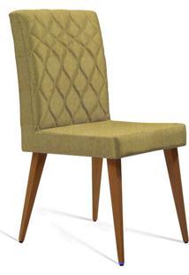 Cadeira De Jantar Edon Linho Mostarda