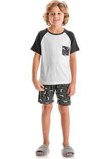 Pijama Pipo Infantil Curto Branco/06