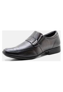 Sapato Social Masculino Pipper Conforto Liso Couro Marrom