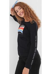 Camiseta Tricats Colourful Preta - Kanui