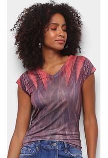 Camiseta Energia Natural Baby Look Básica Feminina - Feminino-Marrom