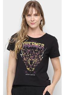 Camiseta Colcci Dreamer Night Queen Feminina - Feminino