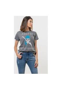 Camiseta Jay Jay Básica Pirates Of Caribbean Chumbo