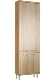 Paneleiro Duplo 4 Portas 5121 Sem Vidro Na Cor Argila Texturizado - Multimoveis