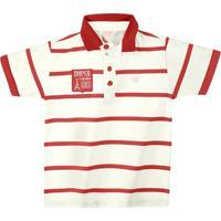 ce7f124644 Camisa Polo Infantil Colorittá Masculino - Masculino-Vermelho+Branco