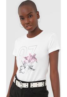 Camiseta Aeropostale Estampada Branca