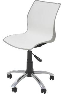 Cadeira Maja Com Rodizio Cor Camurca C/ Branco