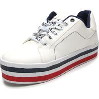 dbe12a7b57 Tênis Branco London feminino   Shoes4you