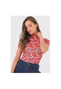 Camiseta Dimy Tule Vermelha