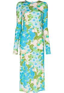 Marcia Tchikboum Cocktail Dress - Azul