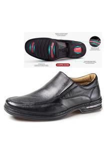 Sapato Confort Em Couro Rafarillo 3900100 Preto 330