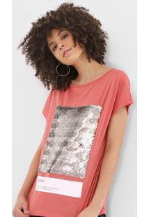 Camiseta Sommer Paetãªs Rosa - Rosa - Feminino - Algodã£O - Dafiti