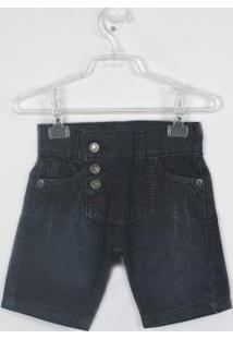 Bermuda Bebê Jeans - Masculino-Preto