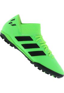 f0be2f666e Chuteira Society Adidas Nemeziz Messi Tango 18.3 Tf - Adulto - Verde Claro  Preto