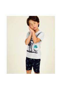 Pijama Infantil Estampa Dinossauro Tam 4 A 10