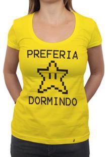 Preferia Star Dormindo - Camiseta Clássica Feminina