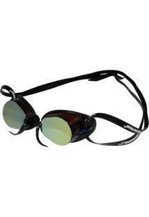 Óculos De Natação Hammerhead Swedish Pro Mirror Marrom/Preto