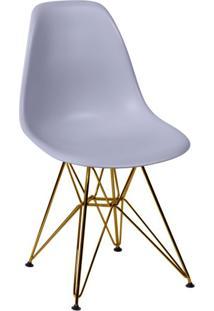 Cadeira Eames Eiffel Com Base Metal Cinza
