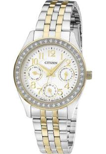 Relógio Analógico Tz28388B- Prateado & Dourado- Citicitizen