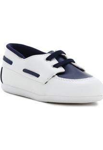 Sapato Infantil Para Bebê Menino - Banco/Azul Marinho - Masculino-Branco+Azul