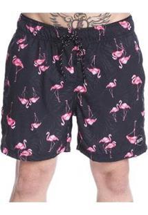 Bermuda Long Island Flamingos Masculina - Masculino