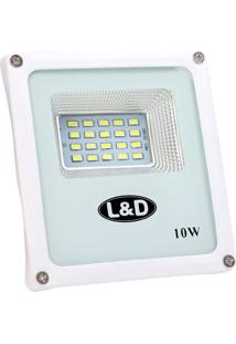 Refletor Micro Led 10W 6500K Branco Frio L E D Bivolt