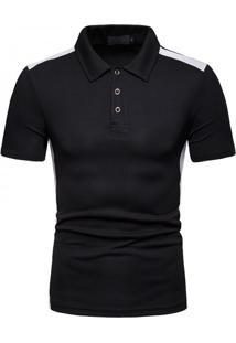 Camisa Polo Vintage School - Preto G