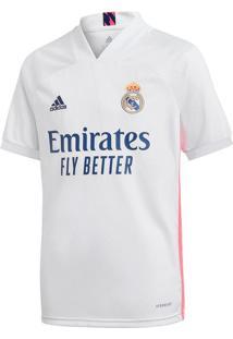Camisa Infantil Adidas Real Madrid I 20/21 Branco - 8