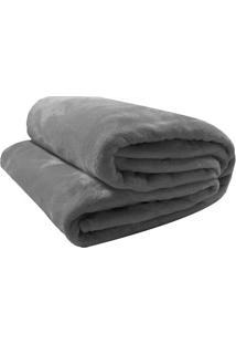 Cobertor Velour Casal - Cinza - 180X220Cm - Camecamesa