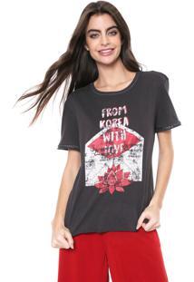 Camiseta Oh, Boy! Estampada Preta