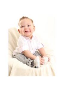 Camisa Manga Longa Bebê Mabu Denim Masculina