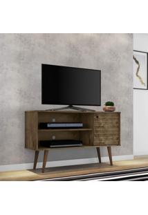 Rack Para Tv Até 42 Polegadas 1 Porta Retrô Jade Móveis Bechara Madeira Rústica