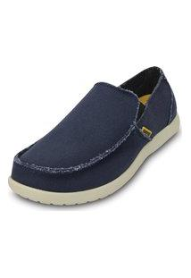 Sapato Crocs Santa Cruz Mens Azul/Bege.