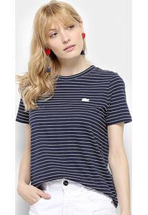 Camiseta Lacoste T-Shirt Feminina - Feminino-Marinho