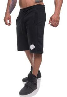 Bermuda Top Fit Moletom All Masculina - Masculino-Preto