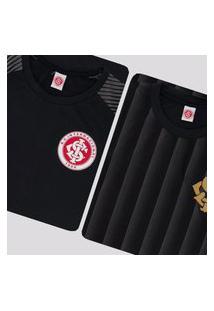 Kit De 2 Camisas Internacional Preta