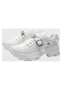 Tênis Sneaker Gommix Dv Pedraria Branco