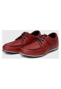 Sapato Em Couro Hayabusa Enter 10 Vermelho Solado Cinza