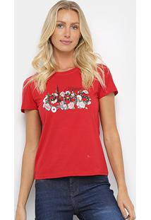 Camiseta Sofia Fashion Paris Feminina - Feminino-Vermelho