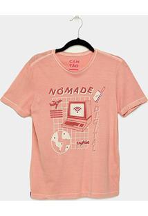 Camiseta T-Shirt Cantão Slim Nomade Digital Feminina - Feminino