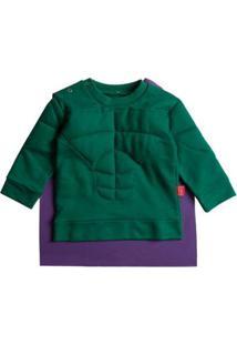 Casaco Moletom Infantil Taioca Hero Masculino - Masculino-Verde