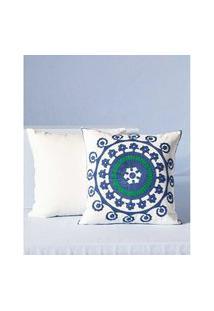 Capa De Almofada Turquia: Capa De Almofada Quadrada Cor: Azul - Tamanho: Único