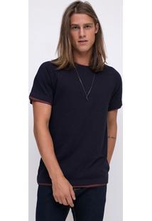 Camiseta Raglan Com Detalhe Na Barra