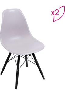 Jogo De Cadeiras Eames Dkr- Fendi & Preto- 2Pçs-Or Design