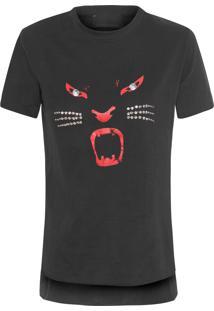 Camiseta Feminina Mc React - Preto