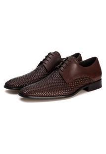 Sapato Derby Tresse Holmes Frank Calçados - Café