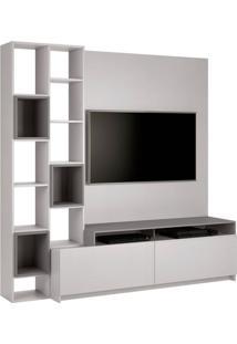 Estante Home Para Tv 49 Polegadas Nolli Cinza E Titânio