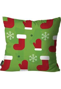 Capa Para Almofada Mdecor D Natal Mia Verde