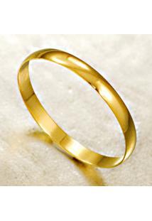 Aliança De Ouro Semi Abaulada Lisa - As1256
