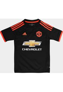 Camisa Manchester United Infantil Third 15/16 S/Nº Torcedor Adidas - Masculino